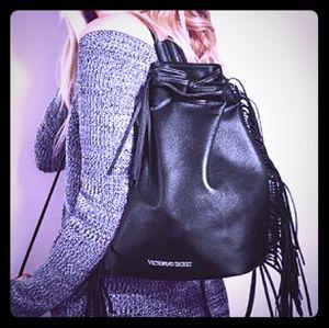 V.S. Tassel Boho Backpack NWOT